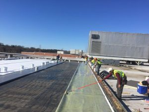 Commercial Roofers Working in Spartanburg